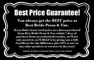Best Price Guarantee at Best Bride Prom and Tux